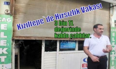 Kızıltepe`de Hırsızlık Vakası