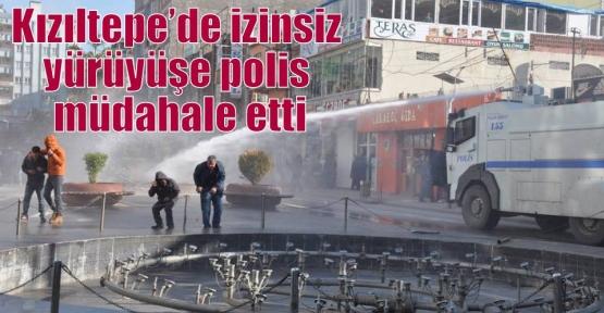 Kızıltepe'de izinsiz yürüyüşe polis müdahale etti