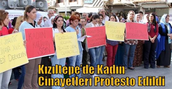 Kızıltepe'de Kadın Cinayetleri Protesto Edildi
