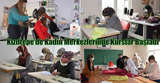 Kızıltepe'de Kadın Merkezlerinde Kurslar Başladı