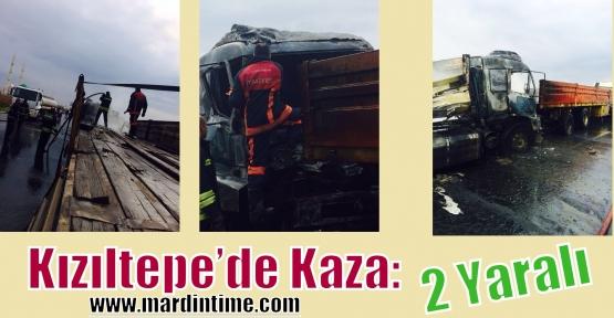 Kızıltepe'de Kaza: 2 Yaralı