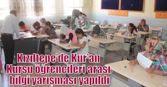 Kızıltepe'de Kur'an Kursu öğrencileri arası bilgi yarışması yapıldı