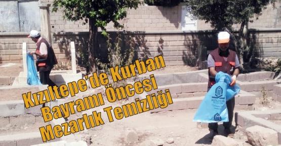 Kızıltepe'de Kurban Bayramı Öncesi Mezarlık Temizliği