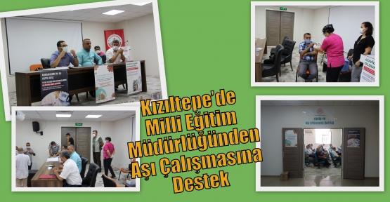 Kızıltepe'de Milli Eğitim Müdürlüğünden Aşı Çalışmasına Destek