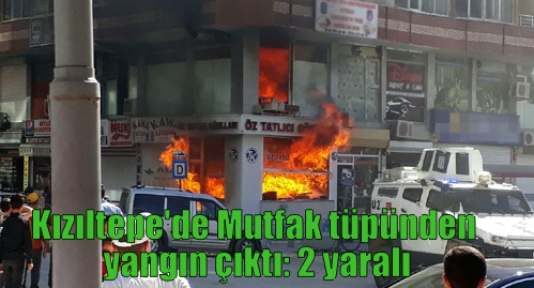 Kızıltepe'de Mutfak tüpünden yangın çıktı: 2 yaralı