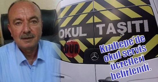 Kızıltepe'de okul servis ücretleri belirlendi.