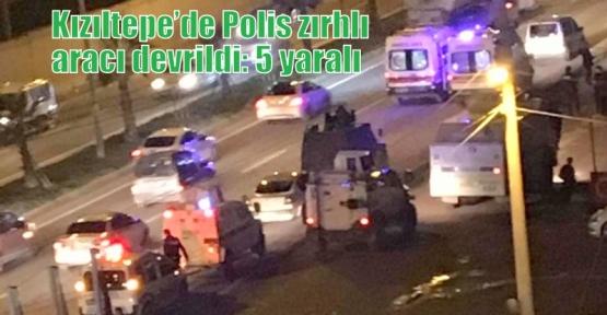 Kızıltepe'de Polis zırhlı aracı devrildi: 5 yaralı
