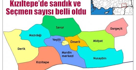 Kızıltepe'de sandık ve Seçmen sayısı belli oldu