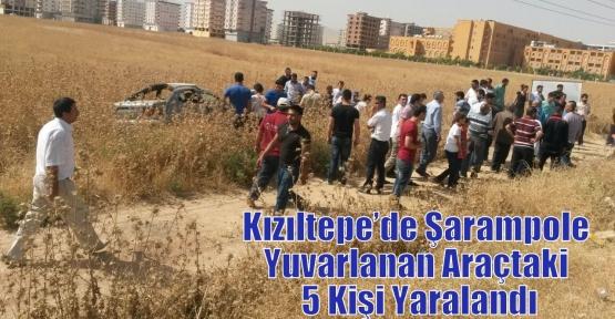 Kızıltepe'de Şarampole Yuvarlanan Araçtaki 5 Kişi Yaralandı