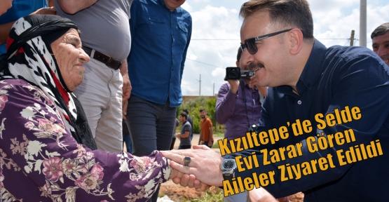 Kızıltepe'de Selde Evi Zarar Gören Aileler Ziyaret Edildi