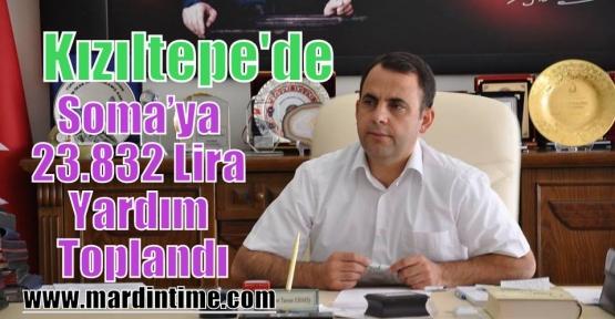 Kızıltepe'de Soma'ya 23.832 Lira Yardım Toplandı.
