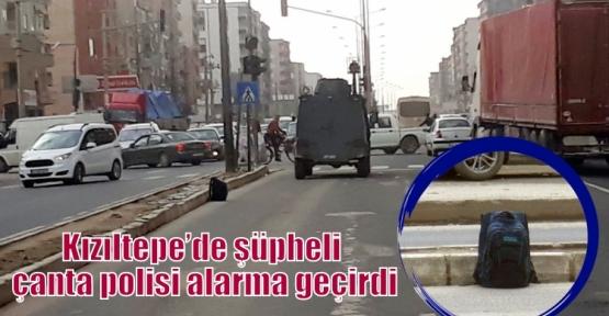 Kızıltepe'de şüpheli çanta polisi alarma geçirdi