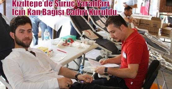 Kızıltepe'de Suruç Yaralıları İçin Kan Bağışı Çadırı Kuruldu.