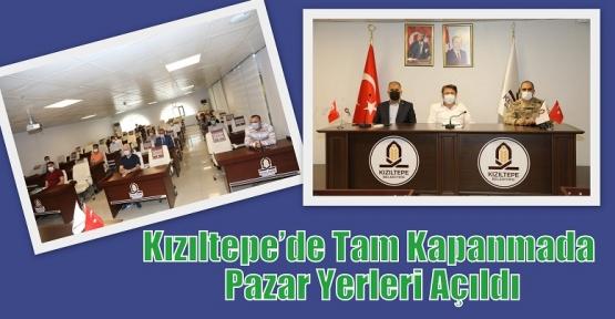 Kızıltepe'de Tam Kapanmada Pazar Yerleri Açıldı