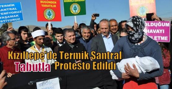 Kızıltepe'de Termik Santral Tabutla Protesto Edildi