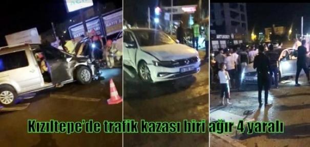 Kızıltepe'de trafik kazası biri ağır 4 yaralı