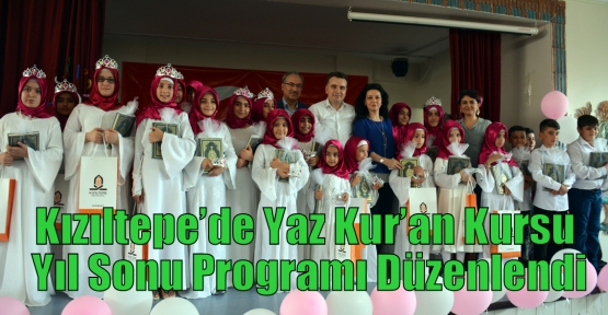 Kızıltepe'de Yaz Kur'an Kursu Yıl Sonu Programı Düzenlendi