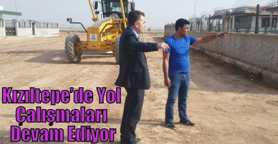 Kızıltepe'de  Yol Çalışmaları Devam Ediyor