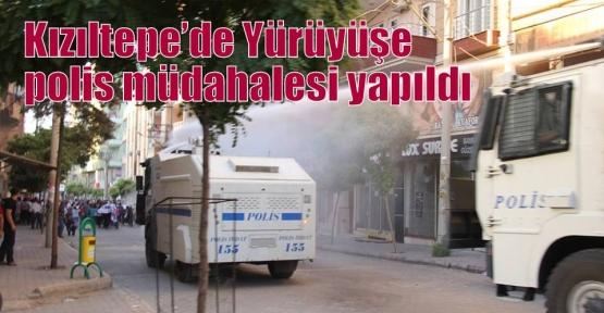 Kızıltepe'de Yürüyüşe polis müdahalesi yapıldı