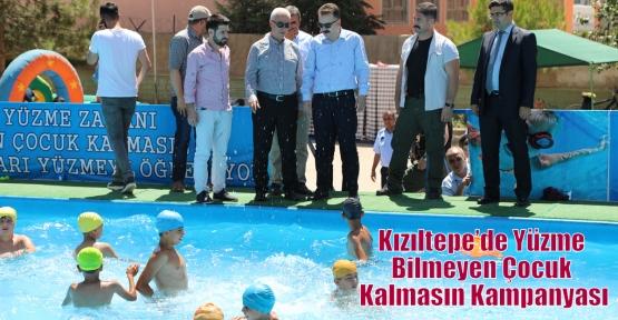 Kızıltepe'de Yüzme Bilmeyen Çocuk Kalmasın Kampanyası