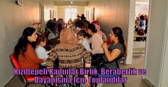 Kızıltepeli Kadınlar Birlik, Beraberlik ve Dayanışma İçin Toplandılar