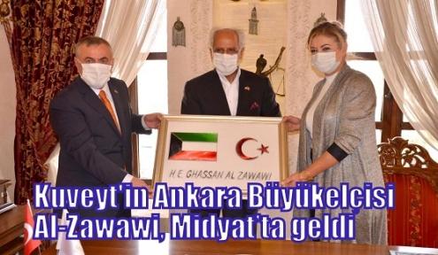 Kuveyt'in Ankara Büyükelçisi Al-Zawawi, Midyat'ta geldi
