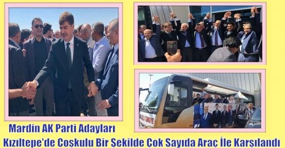 Mardin AK Parti Adayları Kızıltepe'de Coşkulu Bir Şekilde Çok Sayıda Araç İle Karşılandı