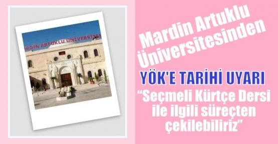 Mardin Artuklu Üniversitesi: Çekiliriz