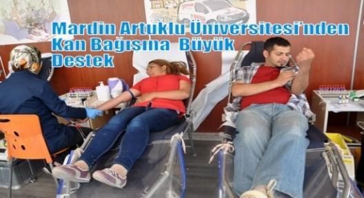 Mardin Artuklu Üniversitesi'nden Kan Bağışına  Büyük Destek