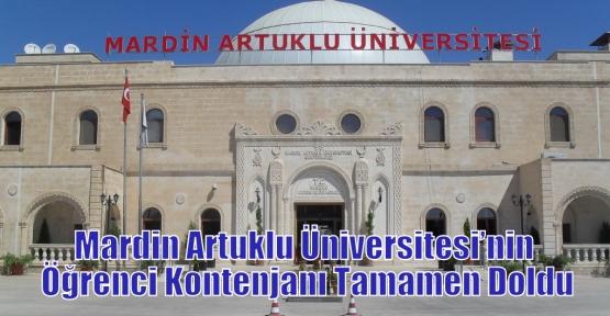 Mardin Artuklu Üniversitesi'nin Öğrenci Kontenjanı Tamamen Doldu