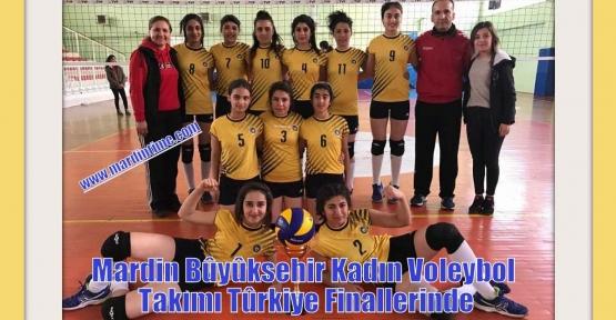 Mardin Bûyûksehir Kadın Voleybol Takımı Gruplarda Tûrkiye  Finallerinde