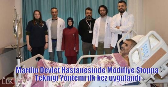 Mardin Devlet Hastanesinde Modifiye Stoppa Tekniği Yöntemi ilk kez uygulandı