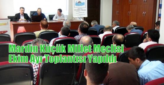 Mardin Küçük Millet Meclisi Ekim Ayı Toplantısı Yapıldı