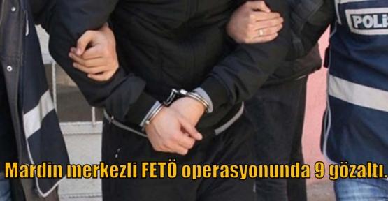 Mardin merkezli FETÖ operasyonunda 9 gözaltı.