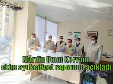 Mardin Umut Kervanı Ekim Ayı Faaliyet Raporunu Açıkladı