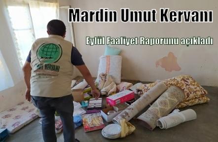 Mardin Umut Kervanı Eylül Faaliyet Raporunu açıkladı