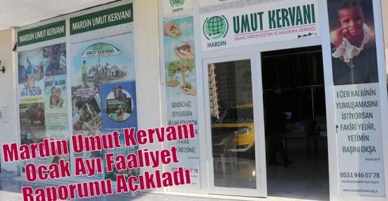 Mardin Umut Kervanı Ocak Ayı Faaliyet Raporunu Açıkladı