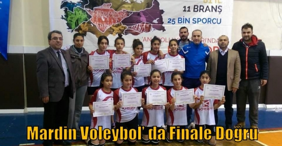 Mardin Voleybol' da Finale Doğru