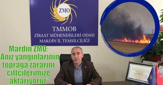 """Mardin ZMO: """"Anız yangınlarının toprağa zararını çiftçilerimize aktarıyoruz"""""""