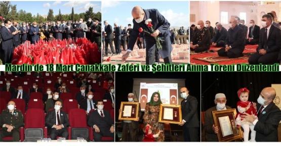 Mardin'de 18 Mart Çanakkale Zaferi ve Şehitleri Anma Töreni Düzenlendi