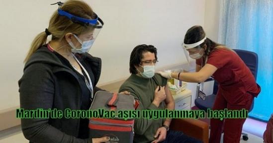 Mardin'de CoronoVac aşısı uygulanmaya başlandı