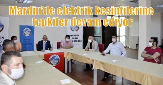 Mardin'de elektrik kesintilerine tepkiler devam ediyor