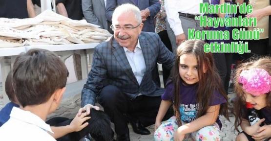 """Mardin'de """"Hayvanları Koruma Günü"""" etkinliği."""