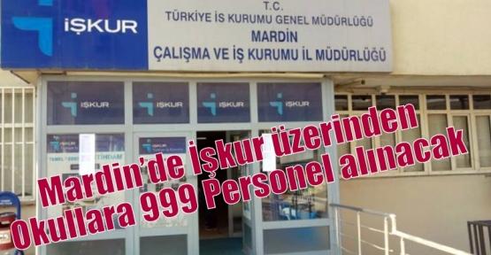 Mardin'de İşkur üzerinden Okullara 999 Personel alınacak