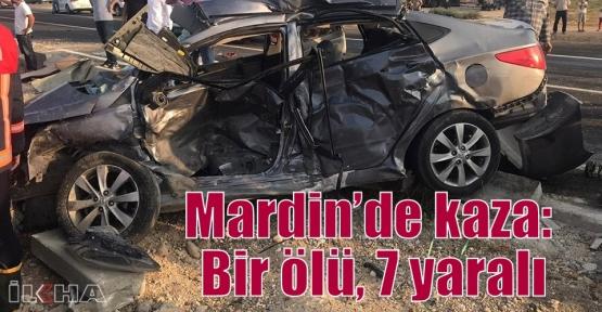 Mardin'de kaza: Bir ölü, 7 yaralı