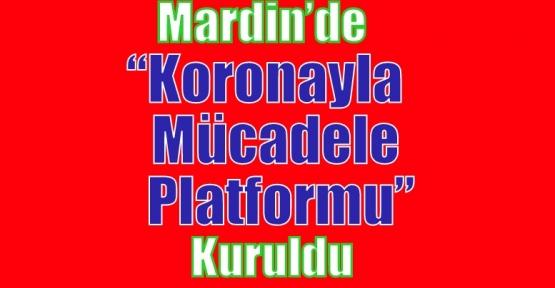 """Mardin'de """"Koronayla Mücadele Platformu"""" Kuruldu"""