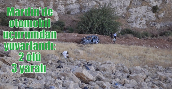 Mardin'de otomobil uçurumdan yuvarlandı: 2 ölü 3 yaralı