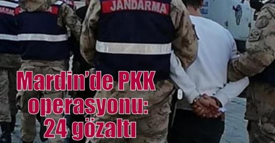 Mardin'de PKK operasyonu: 24 gözaltı