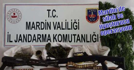 Mardin'de silah ve uyuşturucu operasyonu