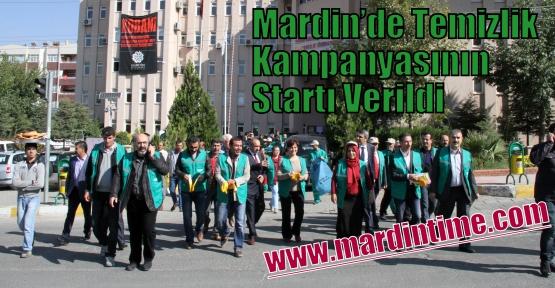 Mardin'de Temizlik Kampanyasının Startı Verildi